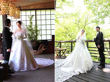 838342981 ご新婦 奏子さんの結婚式で叶えたい 憧れていたものの一つが トレーンの長い白いウエディングドレスを お召しになることでした。  衣裳店に何度かお運びいただき ...