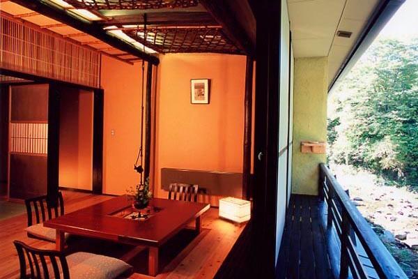 Room along murmuring hall mountain stream
