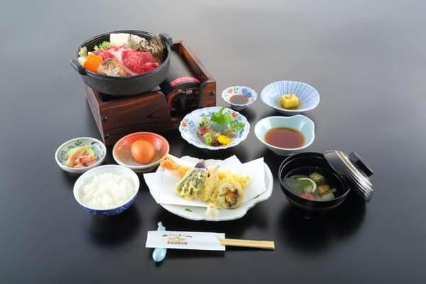 Lunch sukiyaki set