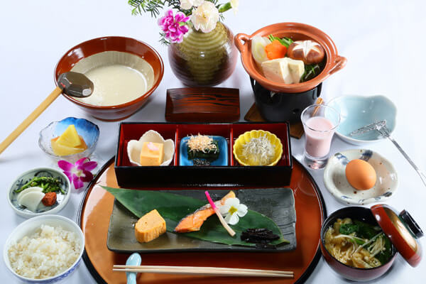 One breakfast Japanese dishes