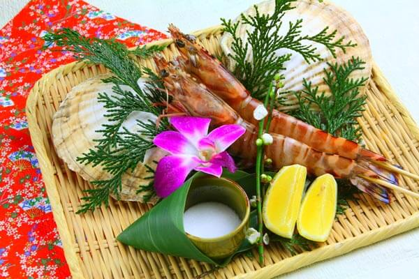 Comment dishes choice Japanese tiger prawn
