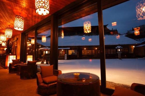 Honjin lobby winter